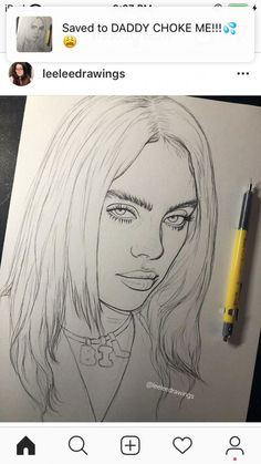 Recently shared billie eilish drawing pencil easy ideas & billie eilish drawing pencil easy pictures Cool Art Drawings, Pencil Art Drawings, Amazing Drawings, Art Drawings Sketches, Easy Drawings, Drawing Drawing, Hipster Drawings, Pencil Drawing Tutorials, Drawing Skills