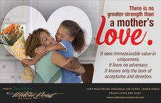 Join Willow Point Dental in honoring the beauty of this infinite love, on Mother's Day, May 14.#mothersday2017 #unconditionallove #loveyourmom