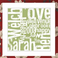 """New Letter press style """"us"""" print. £12"""