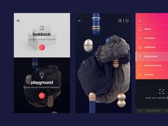 I design the interface for the app Sample Lab - Covestro. Agency: Demodern