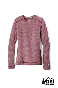 f87588ccdc7 Smartwool Women's Merino 250 Midweight Pattern Crew Base Layer Top Winter  White Donegal XL