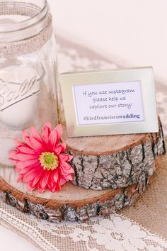 Wood Wedding Decor