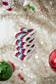 """Free pattern for """"Candy Shop Ornaments""""... How festive & fun!"""