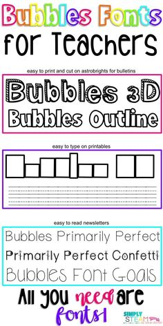 Free handwritten fonts for teachers that are cute and fun! Bundle includes script, bold, and specialized glyphs. Bubble Letter Fonts, Classroom Organization, Classroom Ideas, Future Classroom, Classroom Management, Organization Ideas, Handwritten Fonts, Script Fonts, Classroom Newsletter