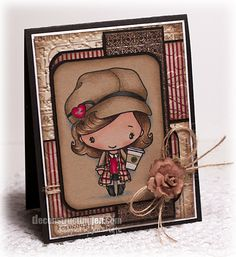 Splendid Stamping with The Greeting Farm: Latte Anya by Jen Shults