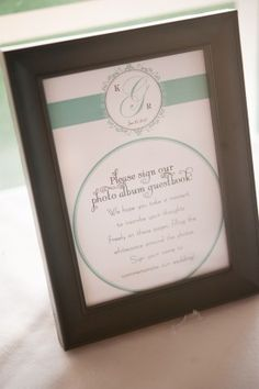 Guest Book Sign 275x413 Chesapeake Bay Wedding Reception: Kelly + Robert