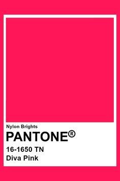 Diva Pink #Pantone Pantone Swatches, Color Swatches, Pantone Colour Palettes, Pantone Color, Colour Pallete, Colour Schemes, Paleta Pantone, Color Of Life, Color Names