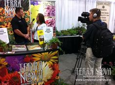 Well-known horticulture publisher GIE Media, produced a video about Terra Nova Nurseries at this year's OFA Short Course. Sales representative Larry Finely was interviewed on camera by Kelli Rodda, editor of Nursery Management magazine, about our one-of-a-kind trailing Heucherellas as well as other new plant varieties.
