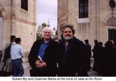 Robert Bly and Coleman Barks at the tomb of Jalal al-Din Rumi