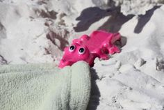 Toweligator - Check out these adorable beach towel anchors!