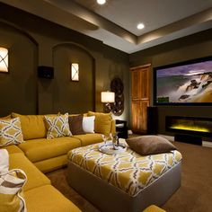 35 Modern Media Room Designs That Will Blow You Away | Small media ...