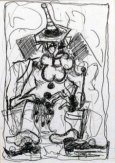 George Dunne-Clown #art #painting  #DukeStreetGallery #penandink #ink #drawing Street Gallery, Ink, Drawings, Artist, Painting, Artists, Painting Art, Sketches, Paintings