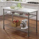 Found it at Wayfair - Orleans Kitchen Island with Marble Top