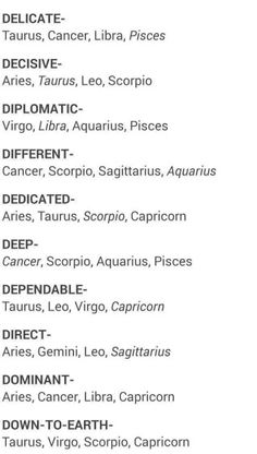 The signs as D words