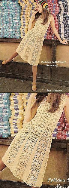 платье (филейное вязание)