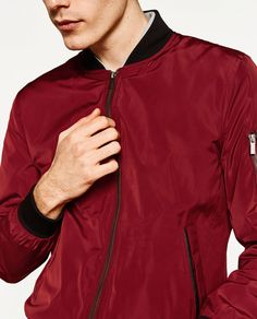POCKET BOMBER JACKET from Zara £39.99 - a step too far for now maybe?!