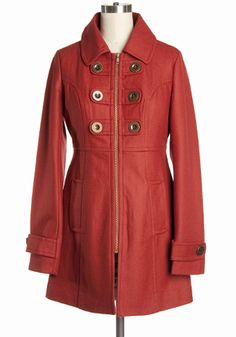 love this retro military jacket in paprika red... wish they had it in my size... :(