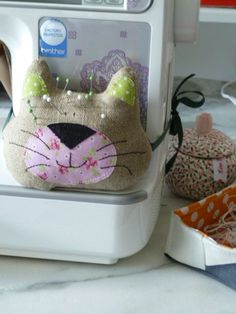 Tuto pique aiguille chat - cat pincushion