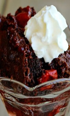 BLACK FOREST DUMP CAKE Was very good, rich and decadent. Will make again but not often because I don't want to be the size of a barn!!!!! Dump Cake, Dumpcake