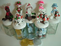 """""""Sweetie Jar"""" with Fimo Christmas topper"""
