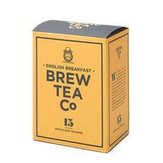 brew tea co イングリッシュ ブレックファースト 日本未入荷のカンパニーの葉っぱの大きい贅沢なティーです!  大きめの葉のブレンドは、ロール状の葉インドアッサム&スリランカUVAを手摘み。 牛乳、砂糖との相性バッチリ