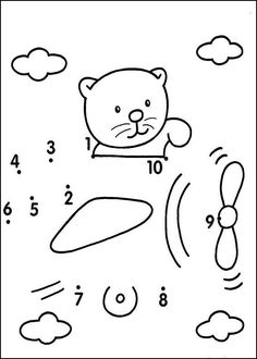 Preschool Activities and Materials Kindergarten Math Worksheets, Preschool Learning Activities, Free Preschool, Teaching Kids, Kids Learning, The Dot, Learning Numbers, Math For Kids, Le Point