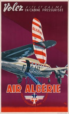 Buy online, view images and see past prices for Y. DELFO (DATES UNKNOWN). Tourism Poster, Poster Ads, Airplane Art, Vintage Travel Posters, Vintage Airline, Poster Vintage, Aviation Art, Air Travel, Vintage Advertisements