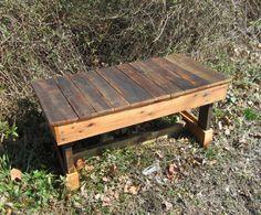 Beautiful Rustic Coffee Table   Cabin Decor   Reclaimed Wood Furniture