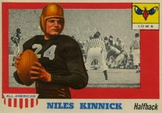 Nile Kinnick was probably one of the greatest all around athletes ever seen in Iowa.  In high school he played basketball, baseball, and football.  In 1936 he was recruited by the Iowa Hawkeyes, and was co-captain of his freshman football team.  In 1937 he led the nation in punting.    1939 was a breakout year for Kinnick, where he won all sorts of honors including - The Heisman Trophy, All American First Team, Big Ten MVP Award, AP Male Athlete of the Year, and the Maxwell Award.