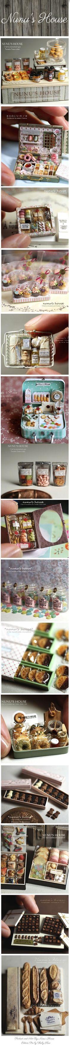 """ただただすごいです!FANTASTIC """"MINIATURE PACKAGING""""  (By Nunu's House)- #Dollhouse #packaging products ."""