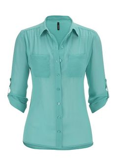 the perfect button down blouse with two pockets (original price, $29) available at #Maurices