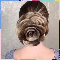 Hair art tutorials😍👌🏻 By: art videos Awesome hair! Box Braids Hairstyles, Pretty Hairstyles, Wedding Hairstyles, Hairstyles Videos, Easy Hairstyle, Hair Up Styles, Medium Hair Styles, Hair Videos, Hair Art