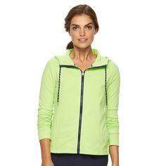 Women's' Chaps Sport Knit Hooded Jacket, Size: