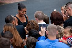 Michelle greeted military families at the White House in 2009. | The Obamas'…