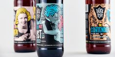 Looking for a fun, quirky beer to bring to a party? Check out Duck Foot  Brewing Co. Designed by Madonna+Child Design House, Duck Foot's 22oz beer  bottles are riddled with vintage photography collaged with graphic  embellishments.