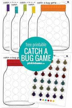 Catch a Bug! Free Printable Game. - Picklebums