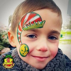 176 best christmas face painting images  christmas face