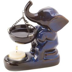 Gifts Decor Ceramic Elephant Figure Oil Warmer Candle Holder Decor - - Product Description: Brighten your home with this lucky elephant and enjoy the sweet smell Deco Elephant, Ceramic Elephant, Elephant Love, Elephant Stuff, Elephant Gifts, Elephant Jewelry, Elephant Art, Oil Candles, Tea Light Candles