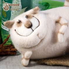 Unusual toys. Cat Harrison. Felting. Valentina Krasnova Collection. OOAK