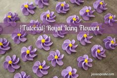 {Tutorial} Learn to make Royal Icing Flowers  by http://JavaCupcake.com