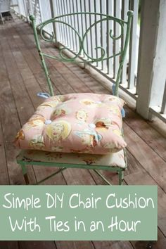 Get a tutorial for a simple DIY chair cushion with ties – yes, it's so easy, anyone can do it with basic sewing skills! Pick your favorite fabric for a custom addition to your decor.