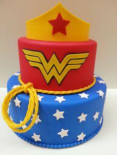 4th Birthday Cakes, Superhero Birthday Party, Birthday Parties, Wonder Woman Birthday, Wonder Woman Party, Its My Bday, Fun, Kids, Biscuit