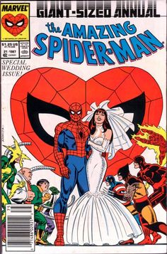 #Spiderman Special Wedding issue cover.