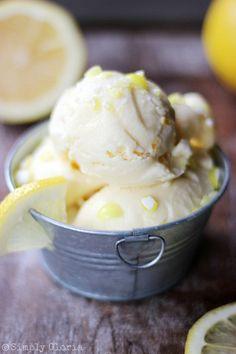 Crushed Lemonheads Lemon Ice Cream with SimplyGloria #Lemonheads #Candy