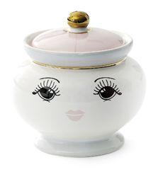 Keramikdose Augen - Geschirr von Miss Etoile bei BERTINE