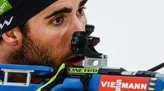 Martin Fourcade au tir sur le biathlon