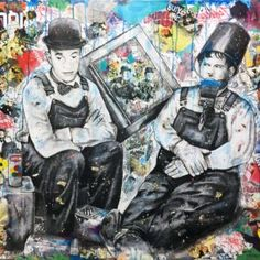 The Job Done (Laurel&Hardy) Laurel Et Hardy, Painting, Fictional Characters, Toile, Artist, Painting Art, Paintings, Fantasy Characters, Painted Canvas