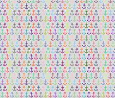 ANCHOR ME (grey) fabric by biancagreen on Spoonflower - custom fabric