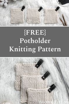 Grab this FREE Handy Little Potholder Knitting Pattern. This stitch takes easy to a whole new level. Its stockinette stitch on the front and back! Watch the video to see how it all comes together & apart. Knitted Washcloths, Crochet Dishcloths, Knit Crochet, Easy Knitting, Knitting Stitches, Summer Knitting, Loom Knitting, Designer Knitting Patterns, Knitting Patterns Free