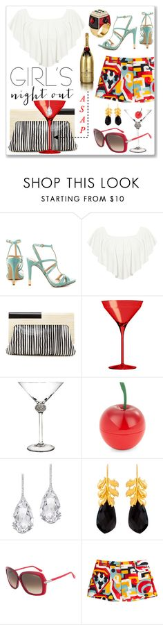 """""""Say """"Yes!"""""""" by kiwipeach ❤ liked on Polyvore featuring MoÃ«t & Chandon, GUESS, WearAll, Trina Turk, Italesse, Tony Moly, Plukka, Kastur Jewels, Tom Ford and Dsquared2"""